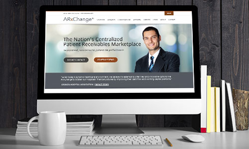 ARxChange case study website shows on desktop