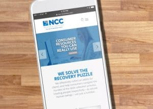 NCC Business Services case study image on mobile device