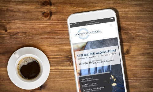 Invenio Financial case study, screenshot on mobile device