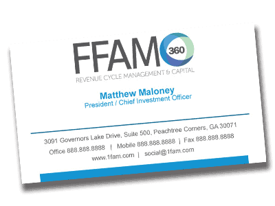 FFAM360 business card