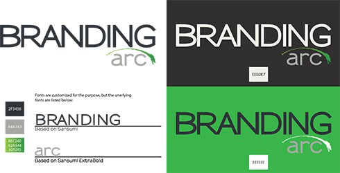 Branding Arc Logo Card